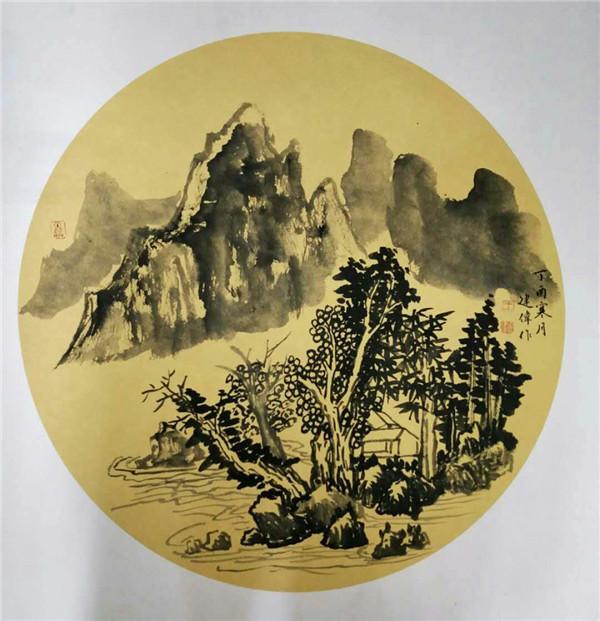 王建伟韩国展作品