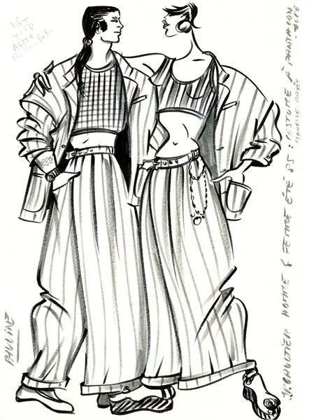 高缇耶服装设计手绘