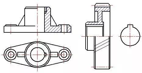 机械图纸剖视图的种类及画法,你