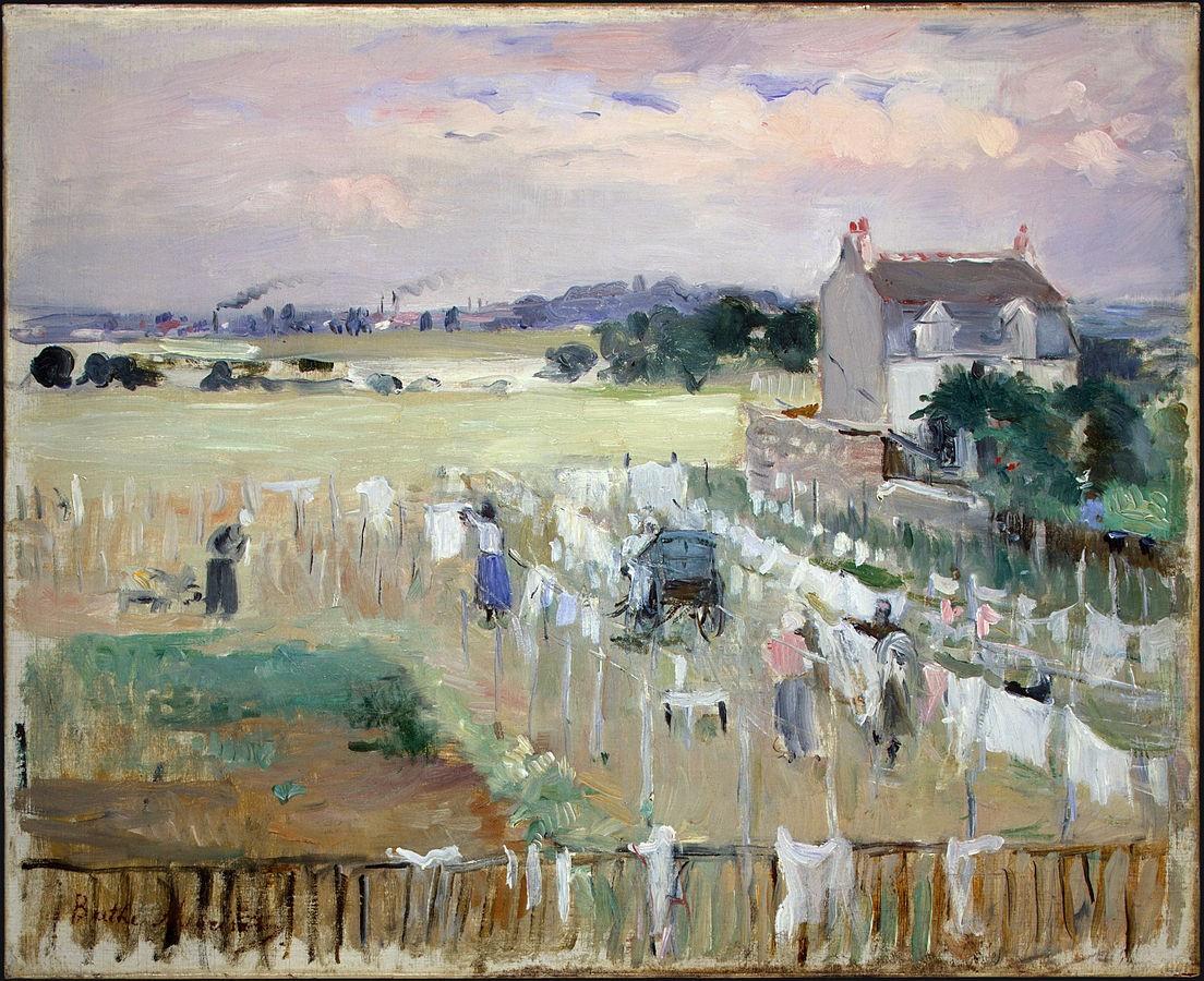 莫里索喜欢画自己生活中经历的事情,反应了19世纪当时社会的风貌,她