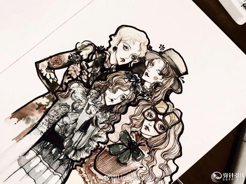 时装手绘 | 动漫人物服装效果图