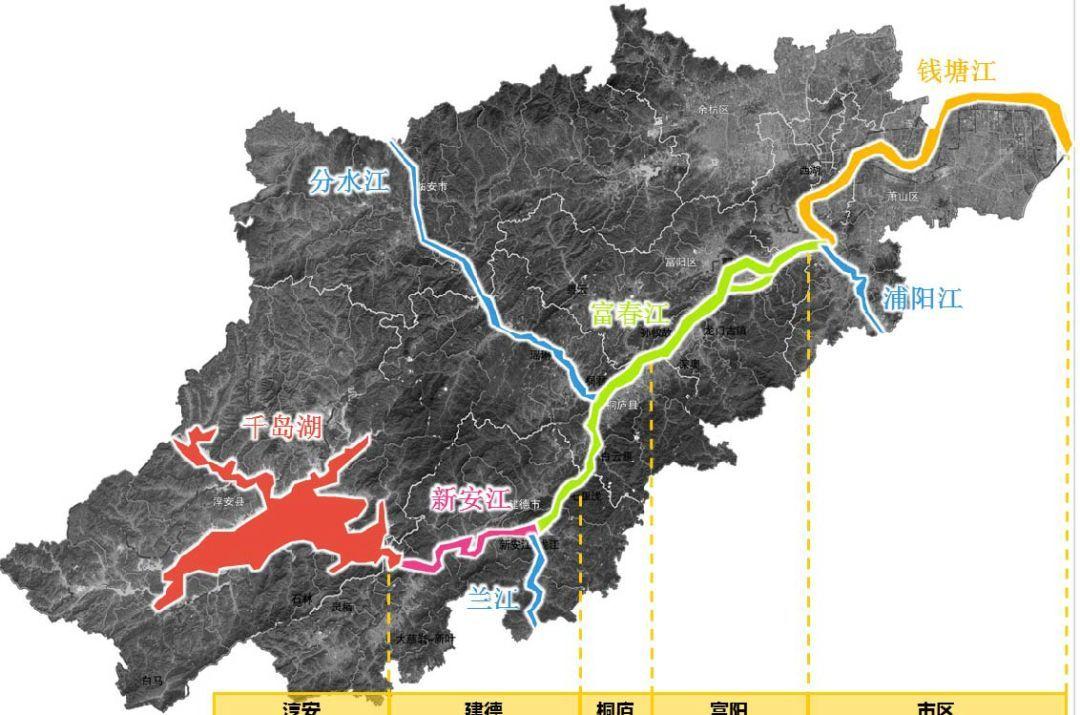 财经 正文  在杭州市域范围内, 钱塘江以与不同支流的交汇处和行政图片