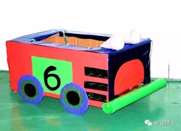 硬纸皮手工制作大型玩教具 大班孩子还可以制作大型玩教具哦!