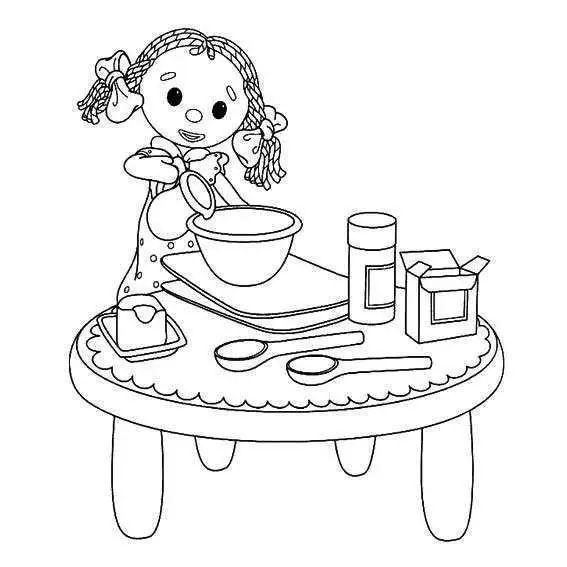 儿童简笔画 帮妈妈做家务的场景图片 做家务简笔画 亲子简笔画大全
