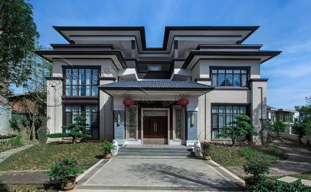 大胆创别墅才会大栋_盘点两套最受欢迎的中式合院别墅,三层两层都有!你最