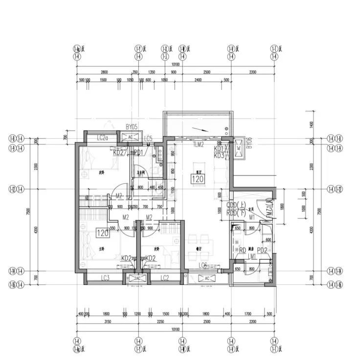 人才房b户型(85平米)平面图   人才房b户型(85平米)bim模型   人才房c户型(120平米)平面图   商品房a1户型(85平米)平面图   标准化设计   楼型和户型标准化设计   户型布置总平面图