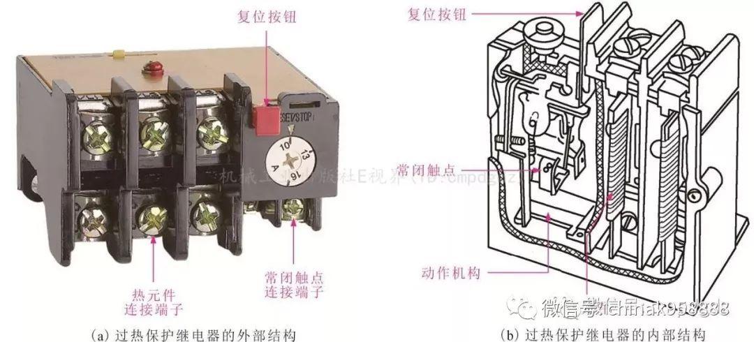 过热保护继电器的外形及内部结构图片