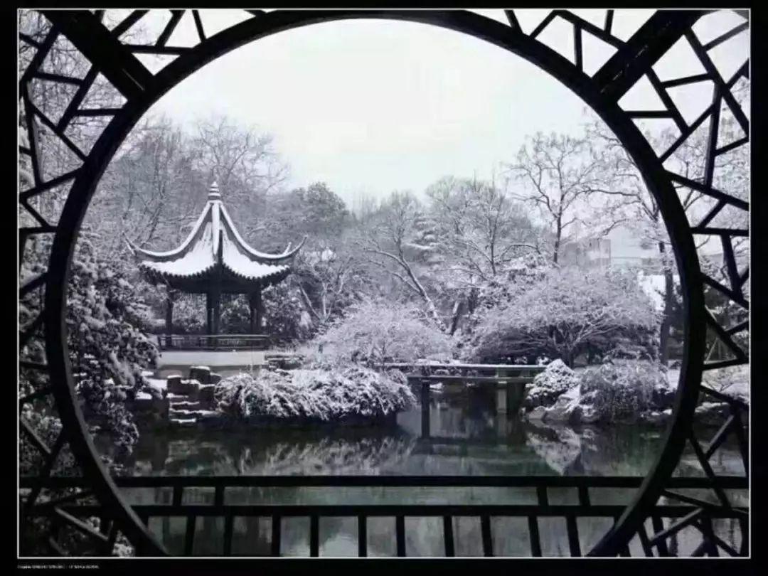 雪后的苏州园林图片