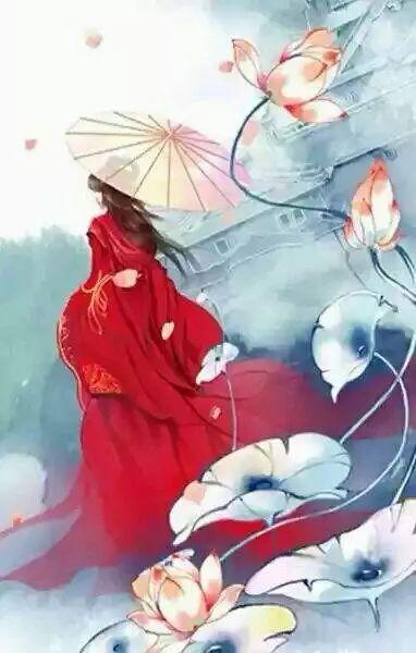 锦鲤 古风 手绘 头像