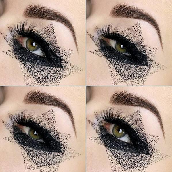 厉害| 创意眼唇妆完美搭配,竟然能美成这样?_搜狐时尚图片