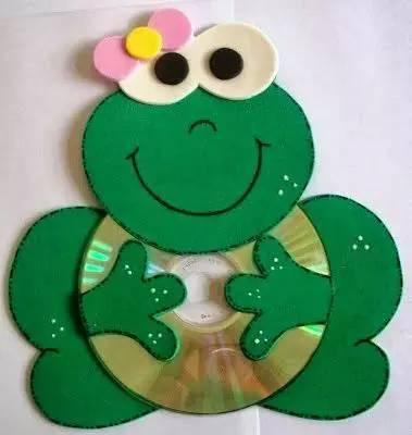 【光盘手工】幼儿园废旧cd创意手工,美到爆!