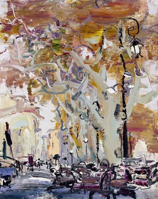 著名意象油画家张大林法国写生作品图片