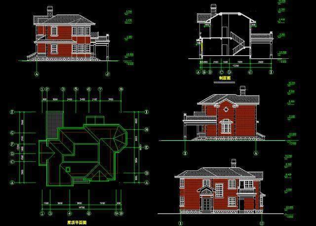 几千汽车屋建筑CAD图纸免费送,影院套房自己v汽车别墅新房景观设计图片