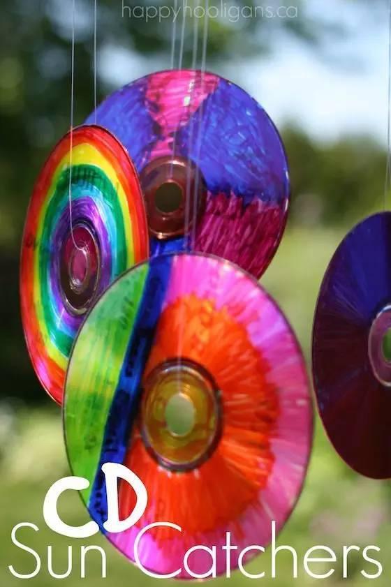 【光盘手工】幼儿园废旧cd创意手工,美到爆!图片