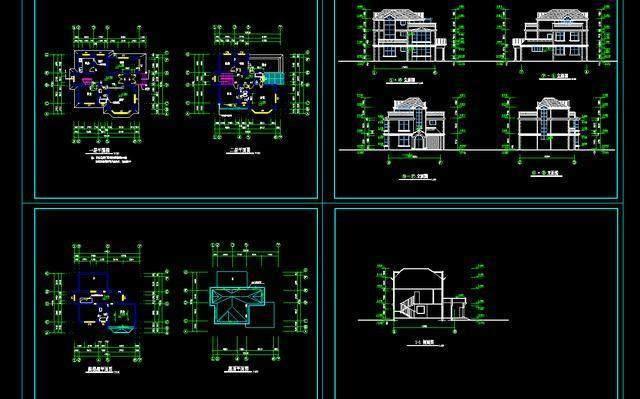 几千套房屋建筑cad图纸免费送,新房别墅自己设计