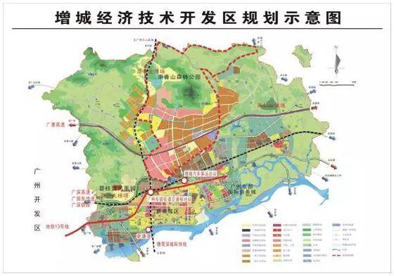 增城经济技术开发区规划示意图