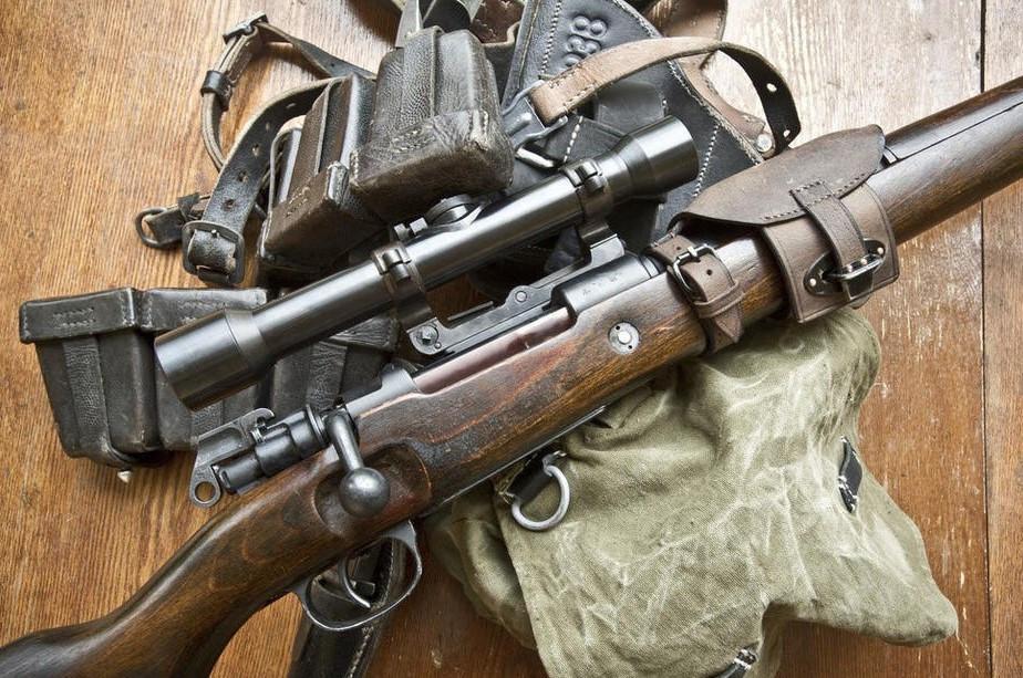 98k狙击步枪图片手绘