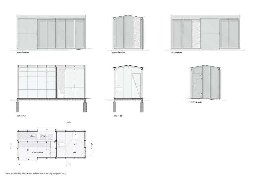 建筑立面手绘测量画法