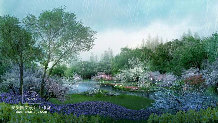 水景在景观园林设计效果图中有哪些艺术营造?
