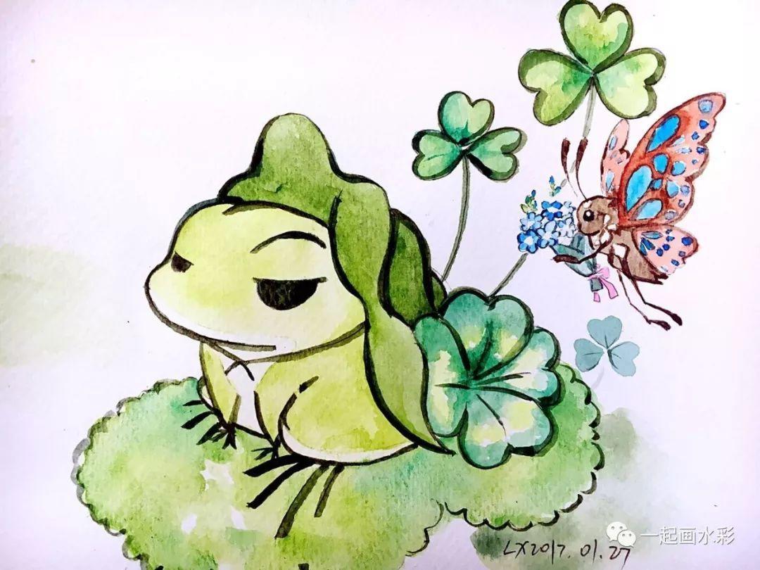 【一起画水彩】简单手绘,各位老母亲来画你的蛙!
