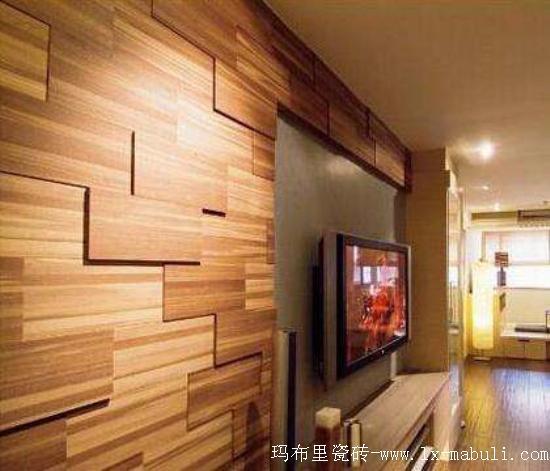 木紋磚上墻(二)-木紋磚背景墻裝修效果,美到爆!