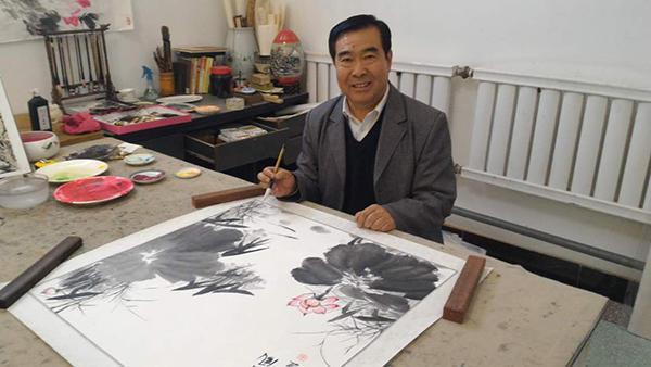 画家刘金明 清新淡雅 妙笔丹青