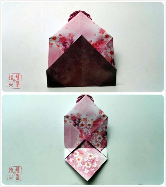 情侣树叶情书信封折纸, 手工折纸信封详细图解教程