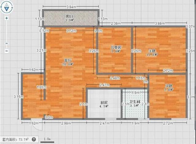 设计师老公自装103平新房,简