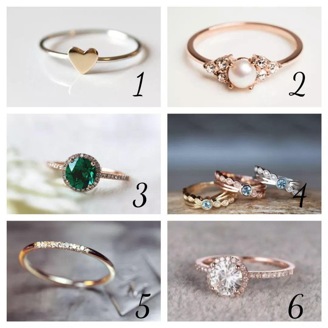 超准!六枚戒指選一枚,一秒測出你的心理年齡!