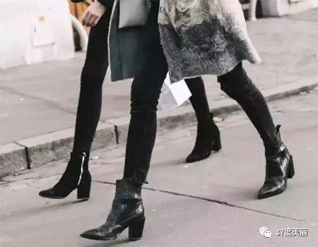 1.28热巴何穗的小黑靴,时髦又显高!