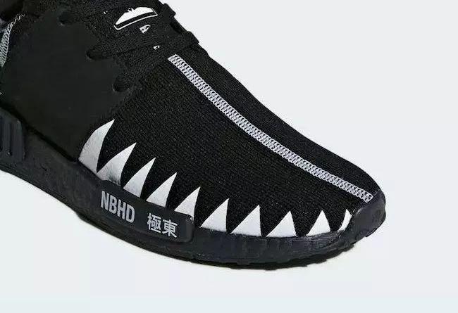 """鲨鱼箭齿装扮!NBHD x adidas NMD 诠释了 """"新黑武士"""" 概念!莆田高仿鞋,高仿运动鞋,  莆田精仿鞋"""