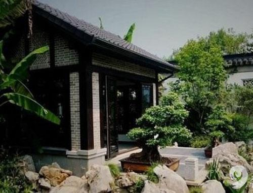 中式别墅后院设计图片
