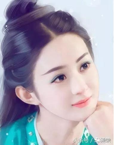 赵丽颖唯美手绘图,网友:值得收藏