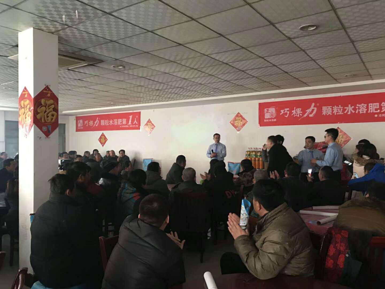 干了个大肥逼_300人聚威县,颗粒水溶肥巧棵力干了件大事.