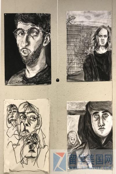 教育 正文  学生自己的作品,墙上有毛泽东和鲁迅的画像 学校优势三:学