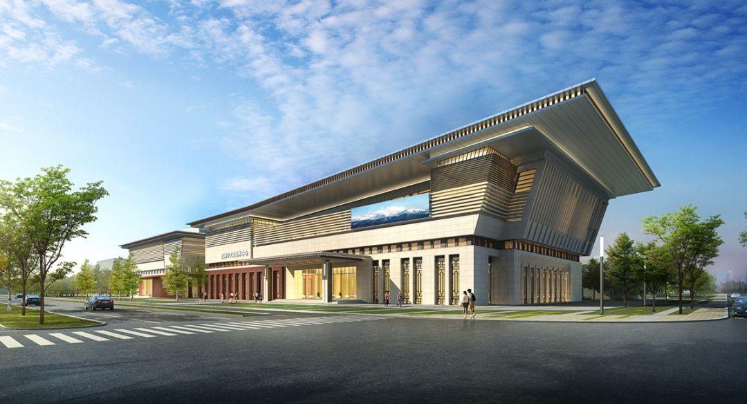 中信v别墅中标石河子文化艺术中心一期别墅200平米以内中式项目设计图图片