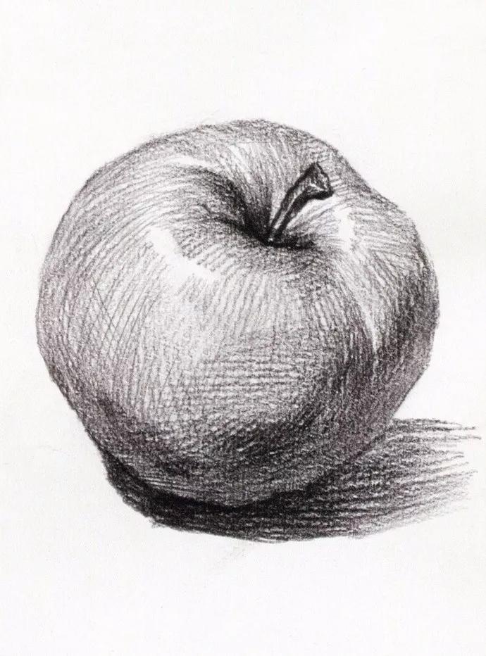 要有明暗黑白灰的认知 一层一层的加强画面的关系 苹果在固定的光源下