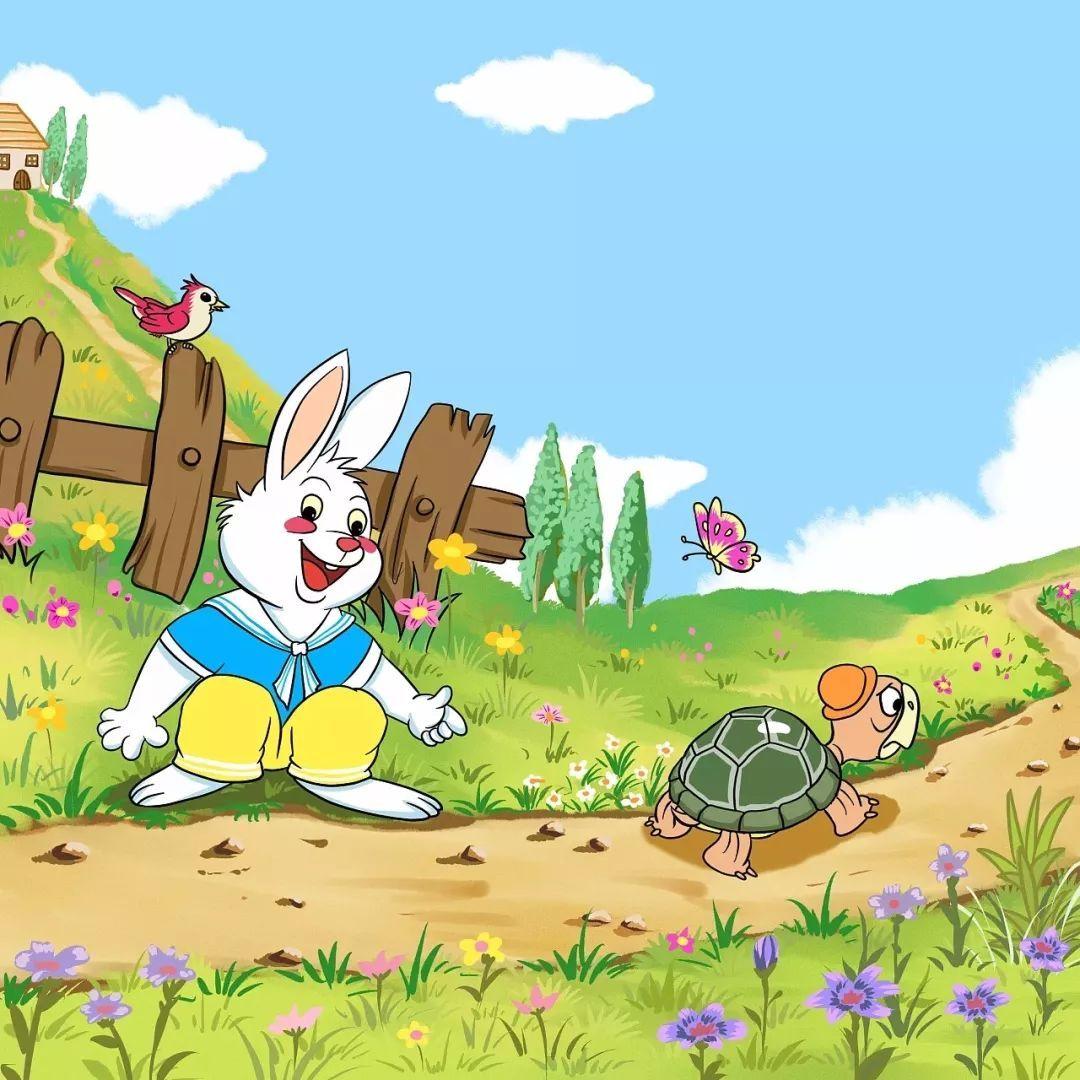 娱乐 正文  一只小兔子自持跑得快,想与小乌龟比赛跑步.