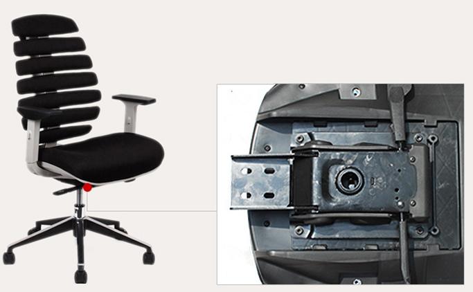 底盘上承使用者的全部重量,下连升降气压棒,是坐椅的重要组成部分.图片