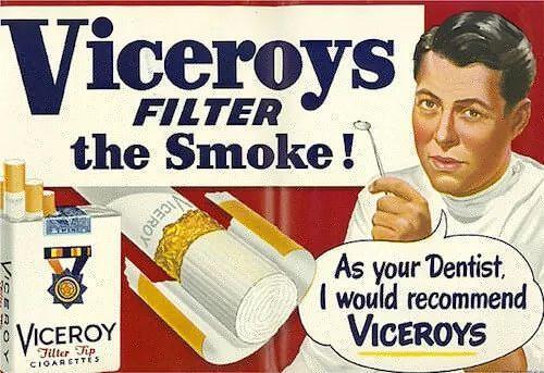 """""""作为牙医,我推荐你抽Viceroys"""""""