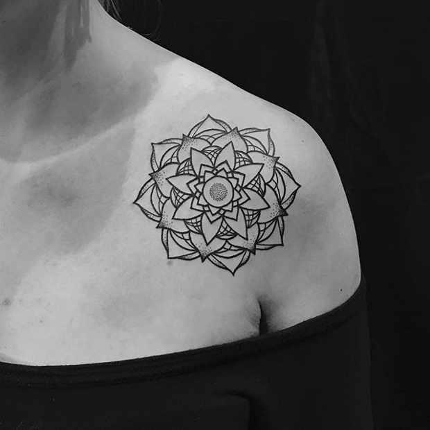 繁花之上再生繁花,一组曼陀罗纹身送给大家