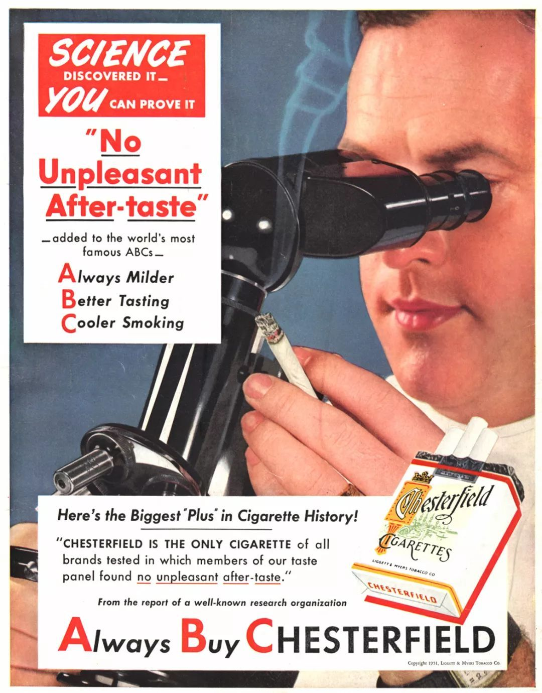 """""""科学已经证明,抽我们的烟,不会产生任何不适"""""""