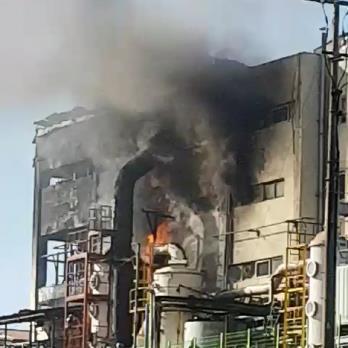 韩国浦项一化学原料制造工厂发生火灾 1人被烧伤