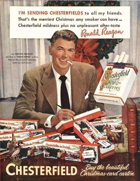 罗纳德·里根给香烟做广告
