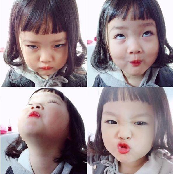 没上过综艺,是个普通人家的小女孩,但她的人气完全不低于宋家三胞胎.图片