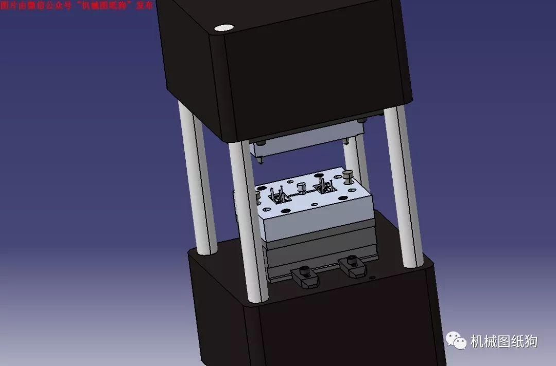 【工程机械】数控模具冲床3d模型图纸 igs格式