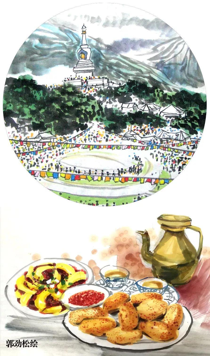 画家手绘四川21市州美食,快看代表巴中的是啥子美食