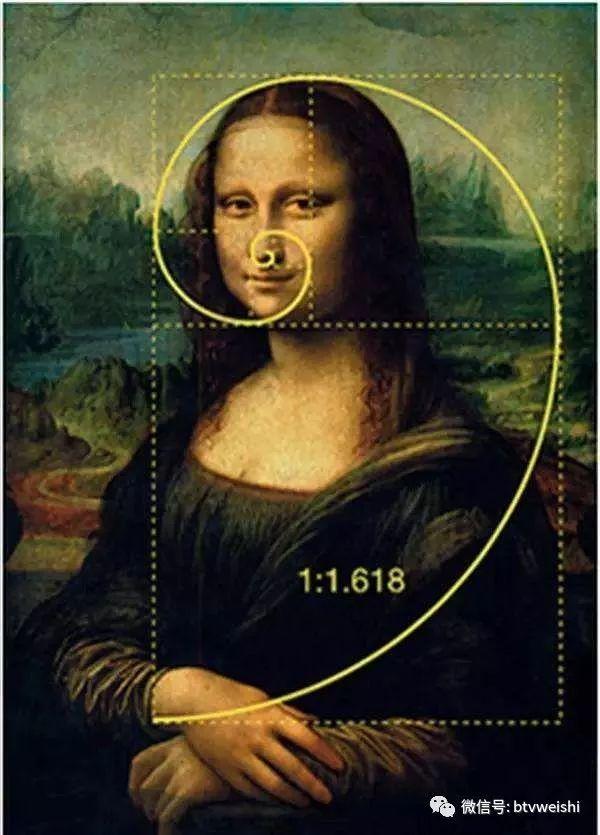 """达芬奇画的《蒙娜丽莎的微笑》是世界名画,它的画面完全符合""""黄金比例"""