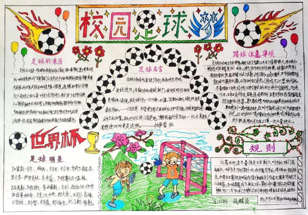 """""""我的足球梦""""系列活动之手抄报作品"""