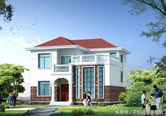 4款带露台的农村别墅设计图,第2款造价最低,第3款老爸也能建